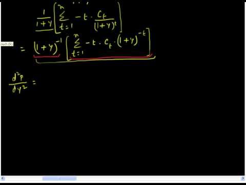 Deriving Duration and Convexity of a Bond