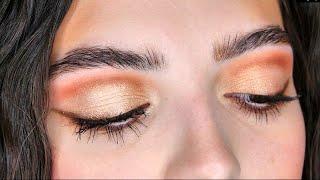Урок 1 повседневный макияж глаз с растушёванной стрелкой тенями