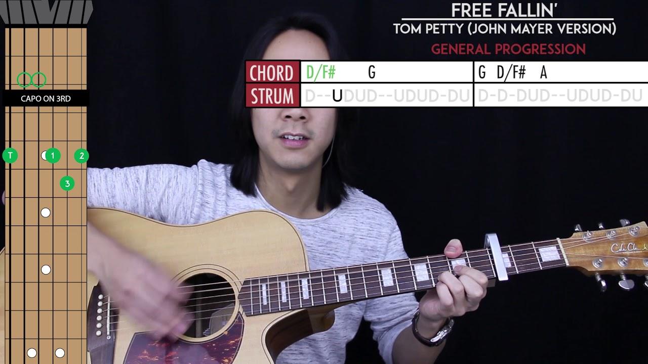 john mayer free fallin guitar lesson