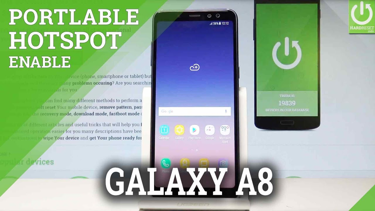 How to Set Up Portable Hotspot on SAMSUNG Galaxy A8 (2018)