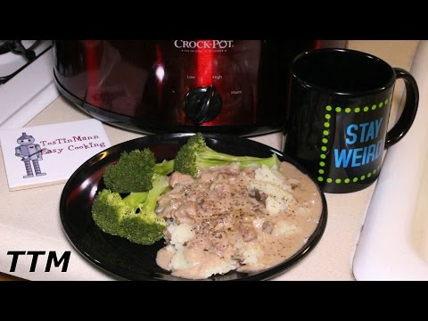 Steak And Cream Of Mushroom Soup Slow Cooker