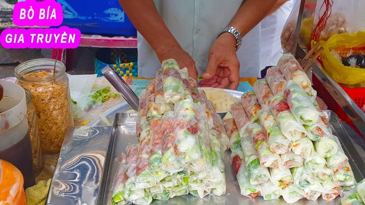 Bò Bía Vỉa Hè Trần Bình Trọng gia truyền hơn 25 năm ở Sài Gòn