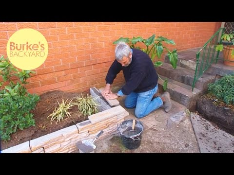 Burke s backyard fake stone garden edging youtube