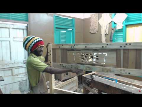 small Caribbean woodwork shop art furniture