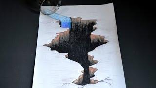 Como Desenhar Buraco com Efeito 3D - passo a passo
