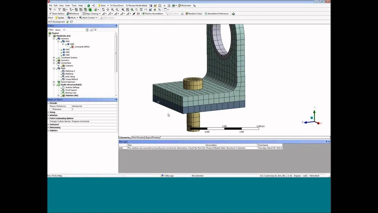 Working with APDL Commands in Workbench - ANSYS e-Learning