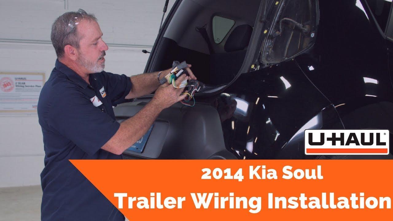 2014 kia soul trailer wiring installation  fits 2014 2017 kia soul w o led class 1