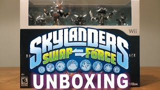 Skylanders Swap Force Wii U - Skylanders Swap Force Dark Edition Unboxing & Gameplay
