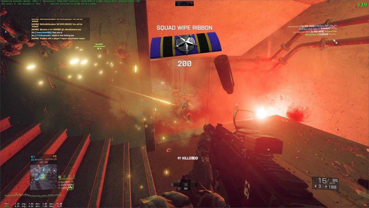 Mantle VS DX11.1 Battlefield 4 Operation Locker (64p ...