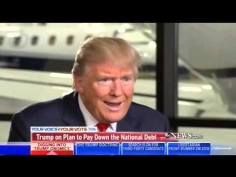 "Donald Trump on buying back US debt from China ""At a discount"""