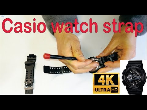 How To Change A Strap On A Casio G-Shock Watch- Step By Step