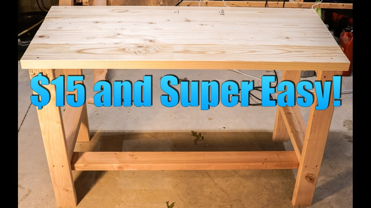 Build A Super Cheap And Easy Desk