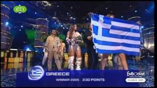 Helena Paparizou awarding @ EUROVISION 2005 (HD)