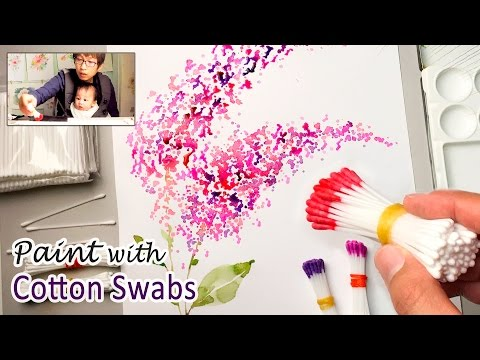 Cotton Swabs Painting Technique for Beginners | Basic Easy Step by step: [ Level 1 ] Q-tips, Cotton Buds, How To : Watercolour Painting Tutorial / Demonstration / 수채화 그림 그리기   Online Painting Tutorials are available at : PATREON : https://www.patreon.com/jayartpainting  ❖ Support for My Art PATREON : https://www.patreon.com/jayartpainting DONATION : https://streamlabs.com/jayartpainting  I do this as my full time job so your support is very much appreciated. Become my patron on Patreon, then you can watch the real-time painting videos include more of my palette, water pot and towel in the camera view. Thanks for the support.  ❖ Jay Lee is a specialized watercolor artist. JayArt videos are showing how to paint flowers, nature and other techniques on the various tutorials offered.   ❖ 영상 시청해주셔서 감사합니다. 한국사람이고요 영어로 영상을 올리고 있습니다. 몇몇 한국 분들이 댓글 달아 주시는데 너무너무 감사드립니다.  ❖ 哈囉~~大家好,我來自韓國,因為老婆是台灣人,所以住在台灣。我的影片內容是教大家使用水彩畫及介紹不同的畫畫方法,謝謝你們的觀看!  ❖ Classification of paints - Painting Techniques / Creative & Fun Art Projects - Beginner (Level 1, Level 2) - Intermediate (Level 3, Level 4) - Advanced (Level 5, Level 6)  Please check out my YouTube channel, then you will see the classified Tutorials.  ❖ Supply List Paper : Saunders Waterford (190g, 300g/m2), Arches Aquarelle (185g/m2) and Hot Pressed Papers. Paints : Shinhan, Holbein watercolors Brushes : Chinese bamboo brushes and watercolor brushes from one dollar store (Cheap one) Palette : SHINHAN Watercolor Aluminum Palette A30  If you are a beginner, it's better to purchase not expensive watercolors and other supplies. I sometimes use a children paint set. It makes me feel so free. Then you can finally enjoy watercolor.  ❖ Music Hills Behind by Silent Partner Bet On It by Silent Partner  ❖ Watercolor brushes There are many people who ask me which brushes are the preferred brushes to use for beginners.  - My answer to them is that all the brushes are great to use and compliment each other. My brushes are not expensive to purchase, they cost around $1-4 USD, some prices may vary on the different brushes used duo to special use of each brush. Remember that with each brush you use you will have a different experience and a range of different feeling. The important thing is that you and the brush work as one to find the balance between creation and skill. The artist's hand is very important in making the painting and to feel the way the water on the brush moves as the brush creates the ultimate master piece.  ❖Improve your painting skills Sometimes people ask me that they've been painting for months, but they think nothing improved.  - Well, I want to say that I have been painted for 15 years and I enjoy my painting every moment. If you enjoy your painting, that is the right way to go forward. Don't be hurry. You just need time. Now you keep improving your painting skill.  ❖ E-mail : tkstoryman@hotmail.com ( If you have any questions please feel free to contact me ) ........................................................