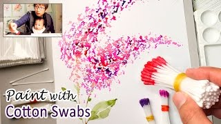 Cotton Swabs Painting Technique for Beginners | Basic Easy Step by step thumbnail