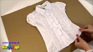 Блузка школьная для девочки цвет белый короткий рукав р 128 146 арт 1825