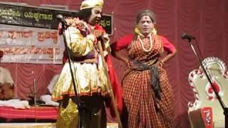 Yakshagana - Chandravali - Halladi , Ramesh bhandari - Hasya 1
