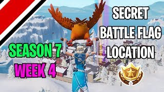 Fortnite Season 7 Week 4 Secret Battle Flag / Battlestar Location (Snowfall Challenges)