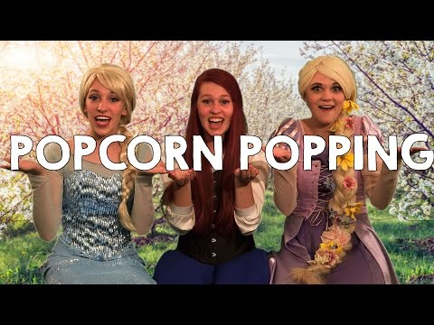 Popcorn Popping on the Apricot Tree - With Elsa, Ariel and Rapunzel!