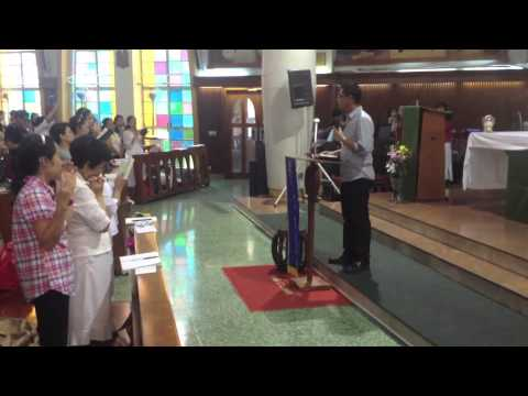 El Shaddai Monday prayer meeting at St. Joseph's Church in Hong Kong