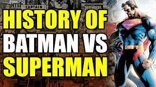 History of Batman vs Superman