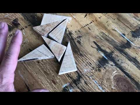 How To Make A Reclaimed Wood Quilt Star Ornament