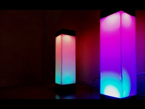How to make Beautiful Color Night Lamp | DIY Light