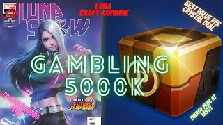 CARD GAMBLING 6000 CRYSTALS -MY LUCK TURNED? LUNA SNOW CARD FULL CRAFT COMBINE |Marvel Future Fight screenshot 5