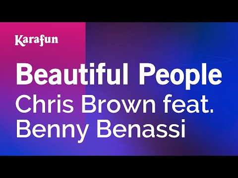 Karaoke Beautiful People - Chris Brown *