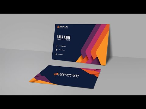 Abstract Colorful Business Card  Illustrator Tutorial thumbnail