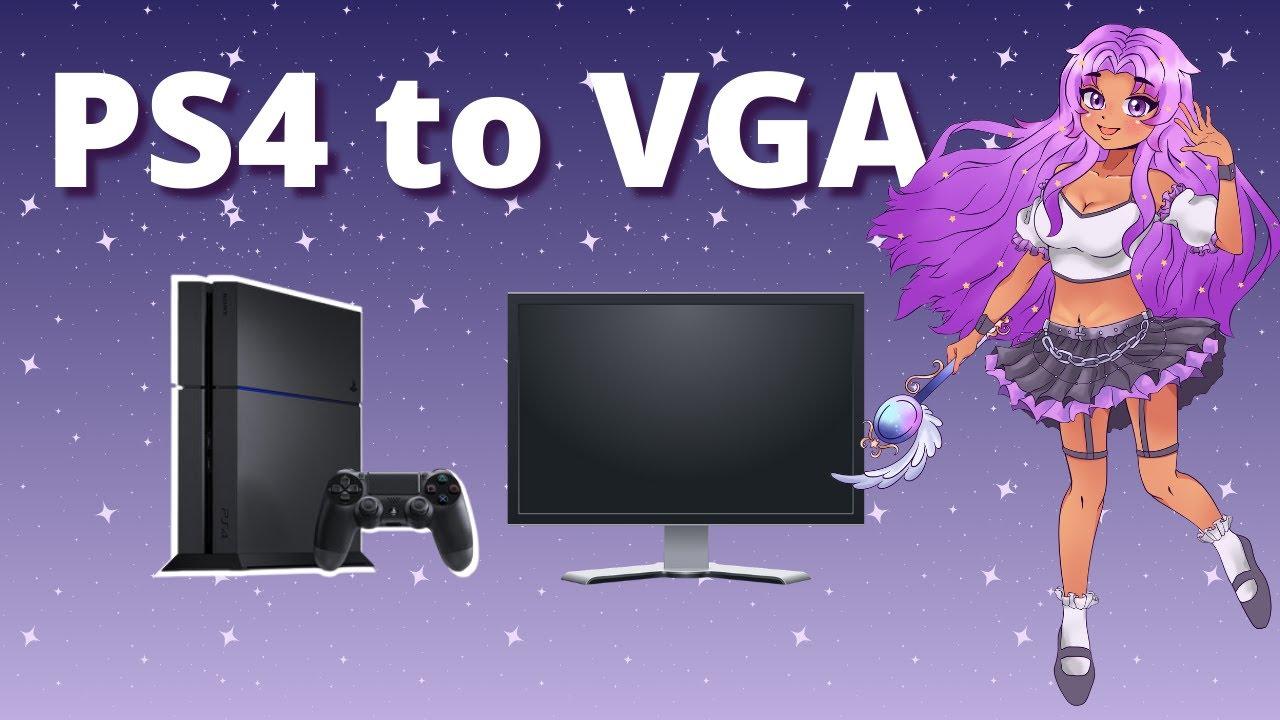 *TUTORIAL* PS4 (fix black screen/no signal) to Monitor /w VGA to HDMI