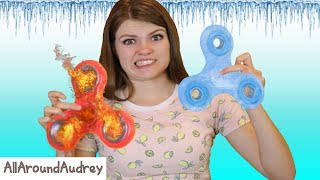 FIRE AND ICE FIDGET SPINNER! / AllAroundAudrey