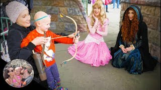 ADORABLE bow and arrow practice with Merida! | Disneyland vlog #89 | 5th birthday in Disneyland!