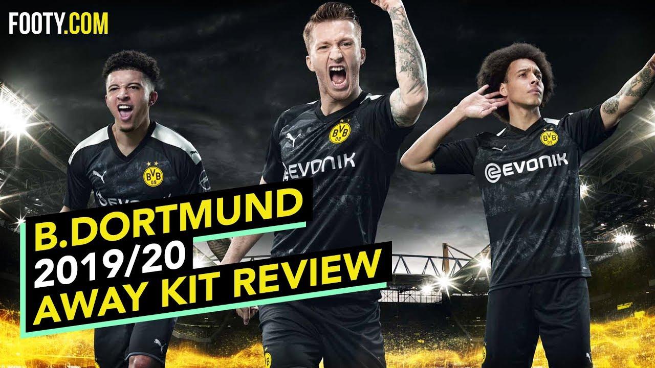 Borussia Dortmund 2019 20 Puma Away Shirt Kit Review Youtube