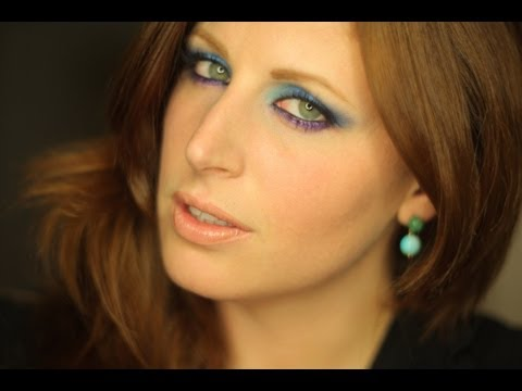 Makeup Tutorial Trucco Blu Viola