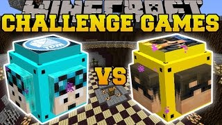 Minecraft: DANTDM VS SKYDOESMINECRAFT CHALLENGE GAMES - Lucky Block Mod - Modded Mini-Game