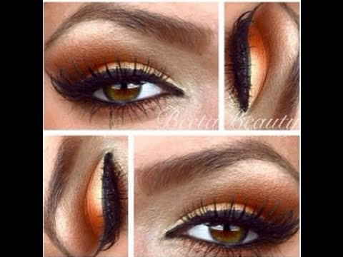 Eyeshadow Tutorial-How To Apply Warm Bronze Colors - YouTube