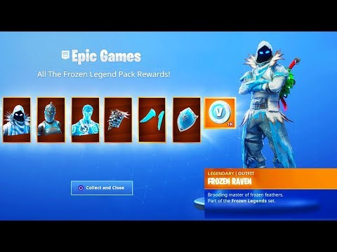 The New FROZEN LEGENDS PACK Gameplay in Fortnite..