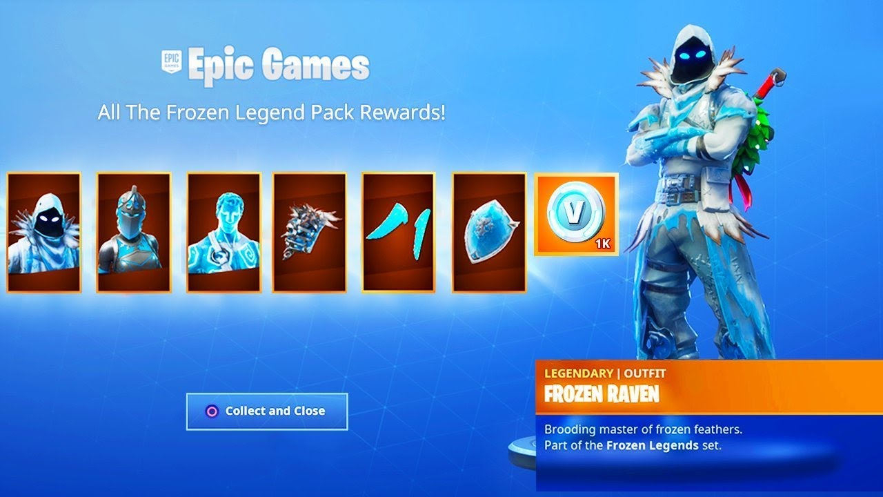 The New Frozen Legends Pack Gameplay In Fortnite Youtube