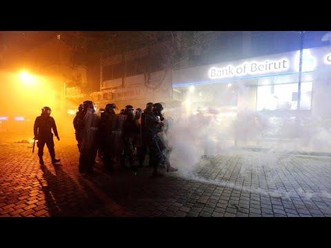 لبنان: جرحى واعتقالات إثر صدامات بين المتظاهرين وقوى الأمن مع تجدد الاحتجاجات  - 10:00-2020 / 1 / 15