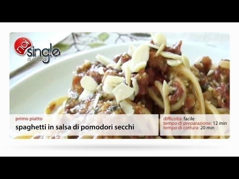 Spaghetti in salsa di pomodori secchi