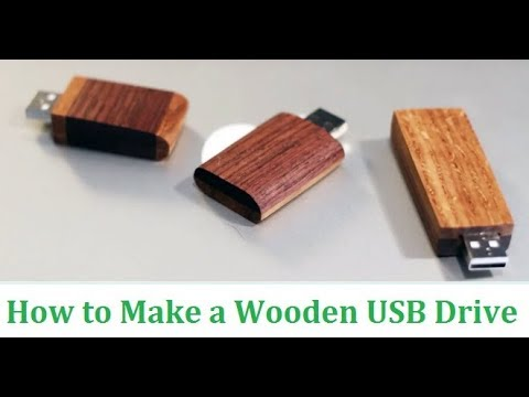 How to Make A wooden USB Drive (easy DIY Wooden project)