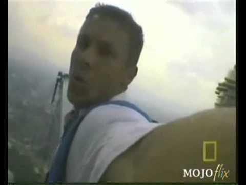 Felix Baumgartner base jump in Petronas Twin Towers in Kuala Lumpur, Malaysia.