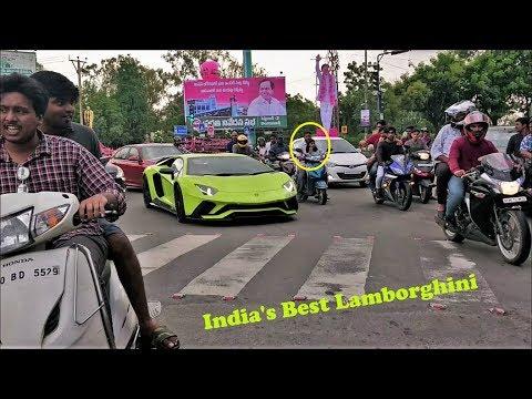 Novitec Lamborghini Aventador S CRAZY Reactions in Hyderabad(INDIA)!!!