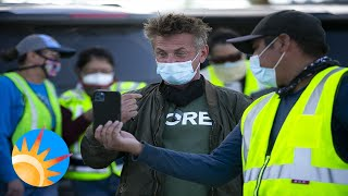 Actor Sean Penn and his disaster relief organization CORE visits the Navajo Nation to offer help