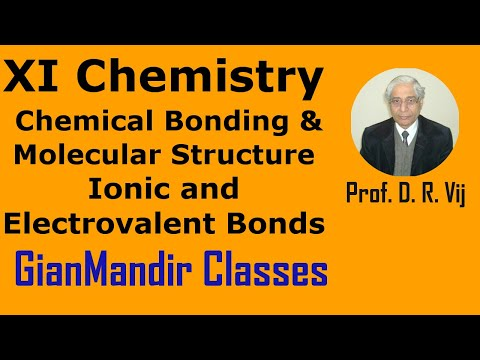 XI Chemistry - Ionic and Electrovalent Bonds by Ruchi Mam