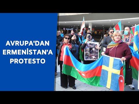 Berlin ve Stockholm'de Ermenistan'ın Azerbaycan'a yaptığı saldırı protesto edildi
