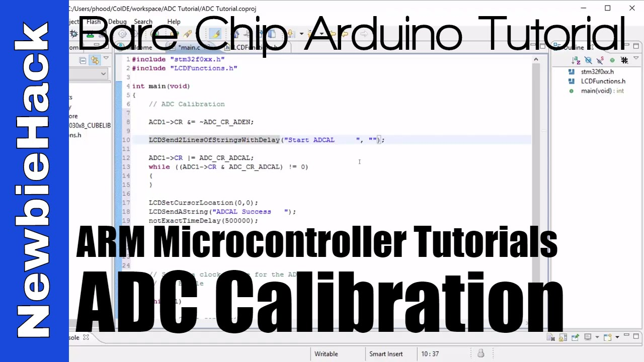34 How To Calibrate The Adc Analog Digital Converter Stm32 Project Is A Simple 12bit 8channel Arm Microcontroller Part 1