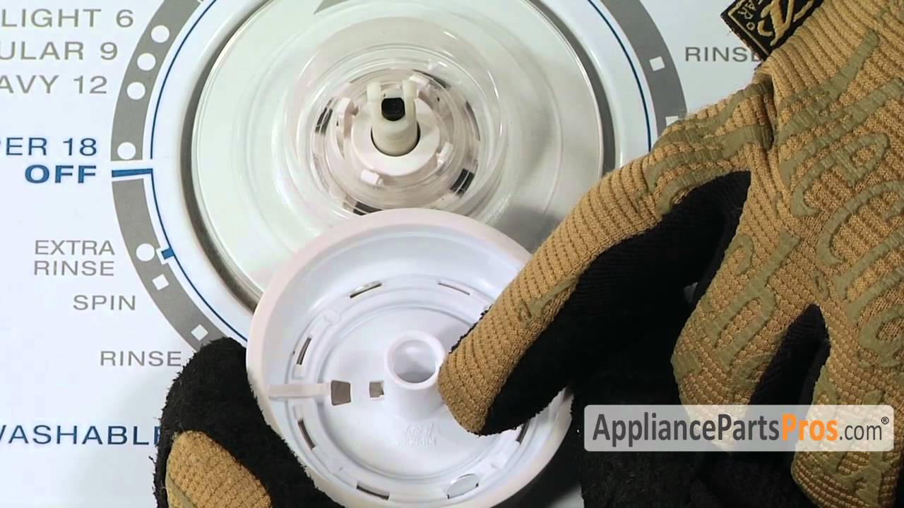 Washer Timer Knob Part W10807860 How To Replace Youtube