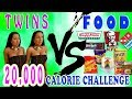 20 000 CALORIE CHALLENGE TWINS Vs FOOD EPIC CHEAT DAY mp3